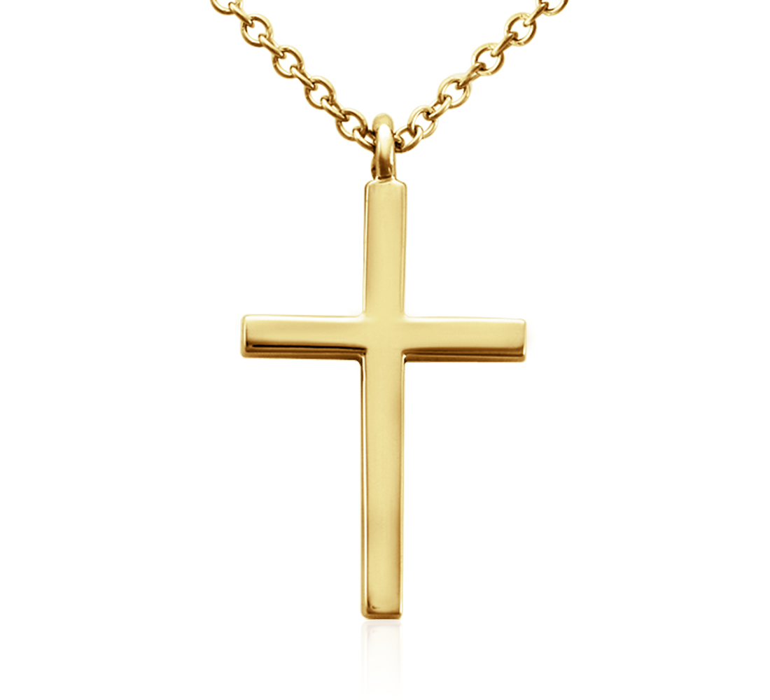 Petite Cross Pendant in 14k Yellow Gold