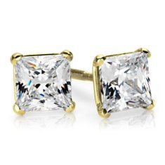 Martini Four-Prong Earrings in 14K Yellow Gold