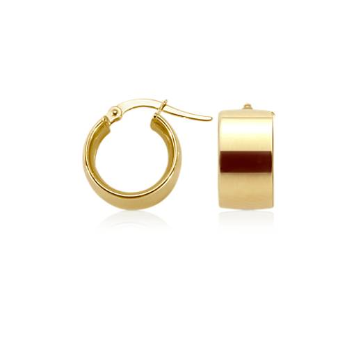 Petite Hoop Earrings in 14k Yellow Gold