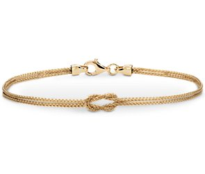 Love Knot Bracelet in 14k Yellow Gold