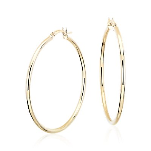 14k 黃金大型圈形耳環( 1 5/8 英寸)