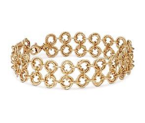 Duet Love Knot Bracelet in 14k Yellow Gold