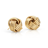 Grande Love Knot Earrings in 14k Yellow Gold