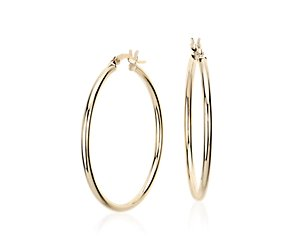 Medium Hoop Earring in 14k Yellow Gold