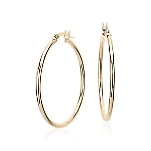 NEW Medium Hoop Earring in 14k Yellow Gold (1 3/8)