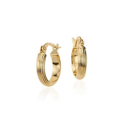 14k 黃金迷你圈形耳環( 7/16 英寸)