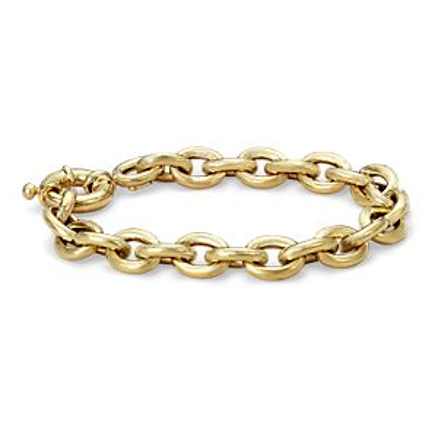 Bracelet à maillons ovales en or jaune 14carats