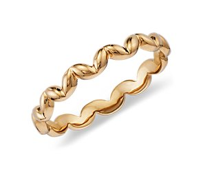 Squiggle Ring in 14K Yellow Gold