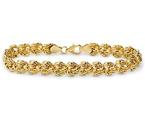 Rosetta Bracelet in 14k Yellow Gold