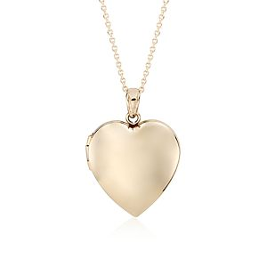 Sweetheart Locket in 14k Yellow Gold