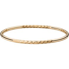 Twist Bangle Bracelet in 14k Yellow Gold