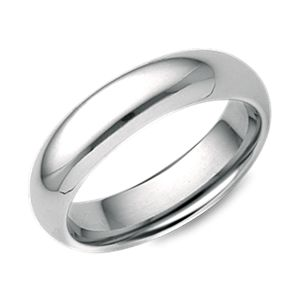 Alliance confort en or blanc 18 carats (5 mm)