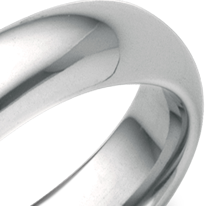 Alliance confort en or blanc 18carats (5mm)