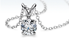 Diamond Solitare Pendants