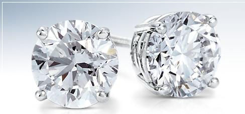 Diamond Stud Earrings in Platinum