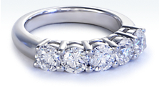 Five-Stone Diamond Ring in Platinum