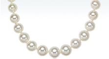 Graduated Freshwater Cultured Pearl Necklace with 14k White Gold (5.5-9.5mm)