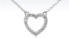 "Mini ""X"" Diamond Pendant in 14k White Gold (1/6 ct. tw.)"