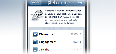 Mobile Diamond Search