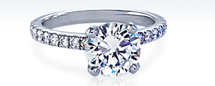 Nouveau Diamond Ring in Platinum