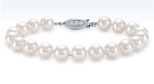 Premier Akoya Cultured Pearl Bracelet with 18k White Gold and Diamond Clasp (8.0—8.5mm)