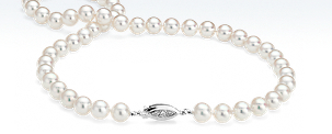Premier Akoya Cultured Pearl Necklace with 18k White Gold (8-8.5mm) 18""