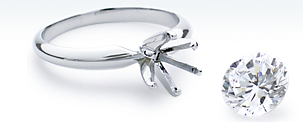 Six-Prong Ring in 18k White Gold
