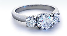 Three-Stone Diamond Ring in Platinum