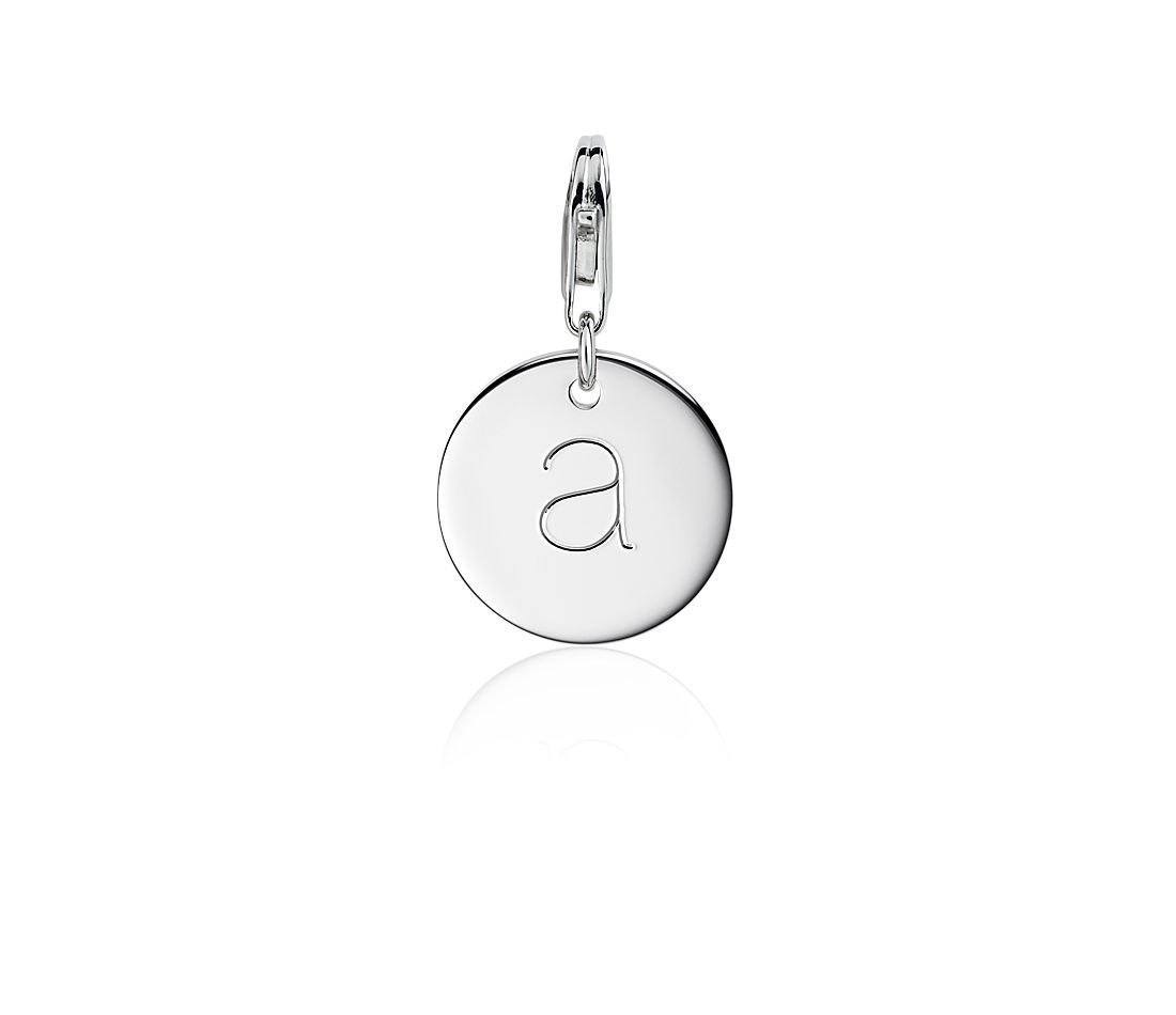 """A"" Initial Charm in Sterling Silver"