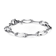 Abstract Link Bracelet in Sterling Silver
