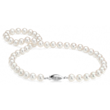 Premier Akoya Cultured Pearl Strand Necklace  with Diamond Clasp in 18k White Gold (8.0-8.5mm)