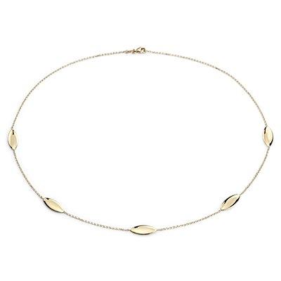 Collar con adornos en forma de almendra en oro amarillo de 14k