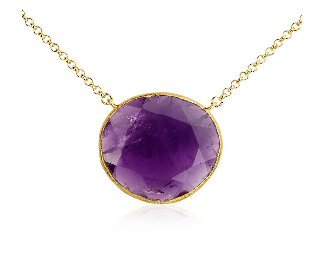 Amethyst Necklace in Gold Vermeil