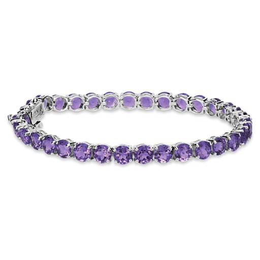 Amethyst Bracelet in Sterling Silver (5mm)