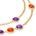 Collar de amatistas y cornalinas en plata bañada en oro - (88.9 cm de largo)