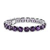 Amethyst Cushion Bracelet (8mm) in Sterling Silver