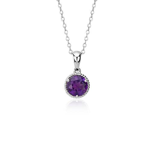 NEW Amethyst Rope Pendant in Sterling Silver (7mm)