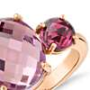 Robert Leser Amethyst and Pink Tourmaline Ring in 14k Rose Gold (11x9mm)