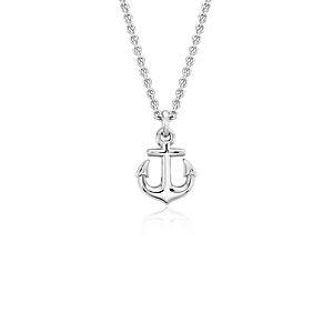 Colgante pequeño con forma de ancla en plata de ley