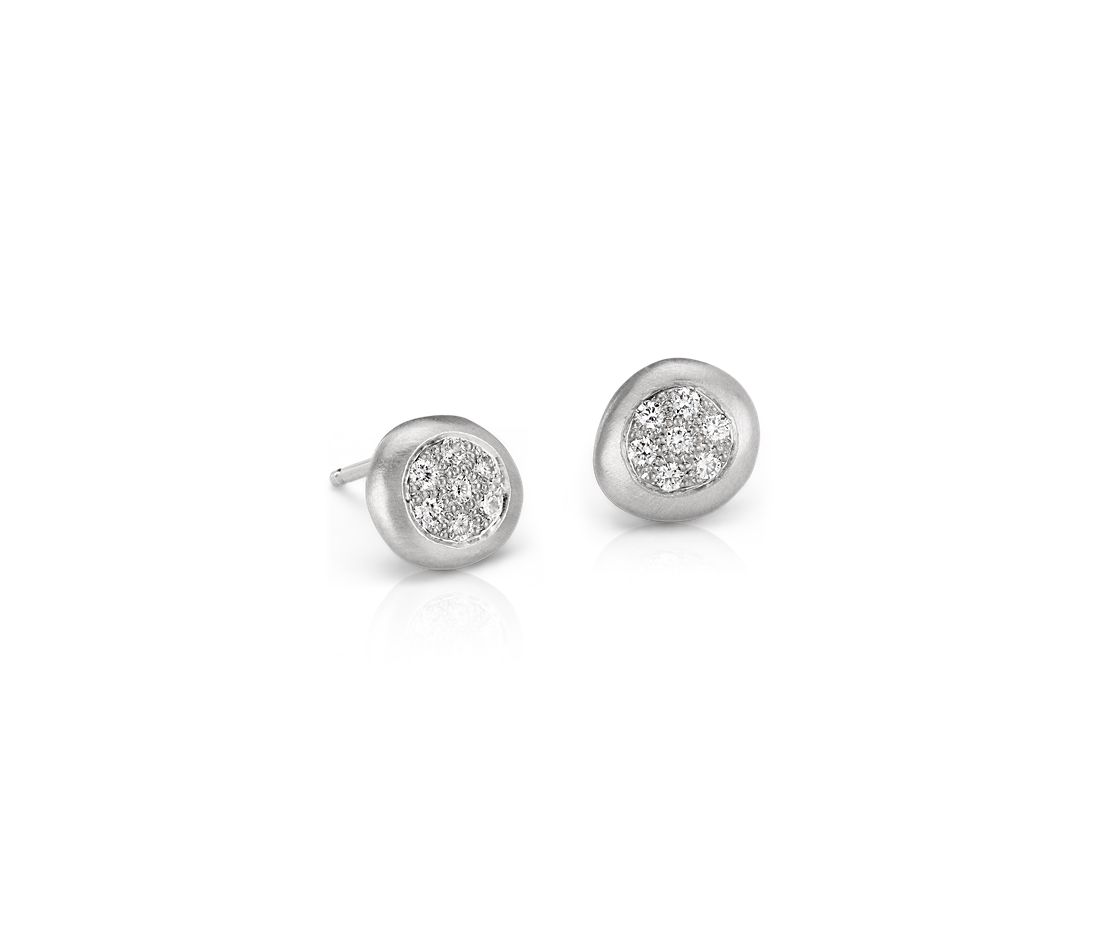 Anne Sportun Diamond Dot Earring in 14k White Gold
