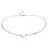 Collar de piedra de nacimiento con aguamarina en plata de ley