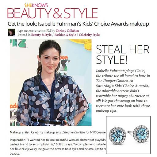 SheKnows.com - Get the look: Isabelle Fuhrman's at Kids' Choice Awards