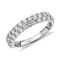Aria Double Row Bagues en diamant in Or blanc 18 ct (1.15 carats, poids total)