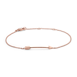 Arrow Bracelet in 14k Rose Gold
