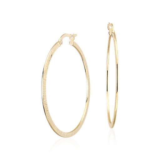 Artisan Hoop Earrings in 14k Yellow Gold