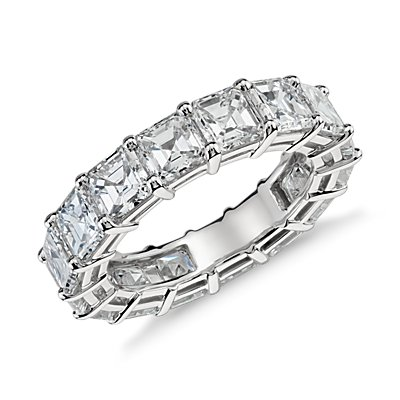 Asscher Cut Diamond Eternity Ring in Platinum (7.00 ct. tw.)