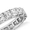 Asscher-Cut French Pavé Diamond Eternity Ring in Platinum (3 ct. tw.)