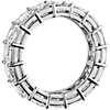 Anillo de eternidad de diamantes de talla Asscher en platino (8,42 qt. total)
