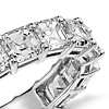 Asscher Cut Diamond Eternity Ring in Platinum (5 ct. tw.)