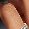 Bague en diamant taille Asscher en platine (1,25carats, poids total)